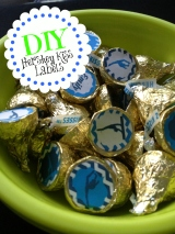 A Kiss for a Gymnast: DIY Hershey Kiss Labels
