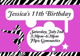 Gymnastics Birthday Invitation Tutorial
