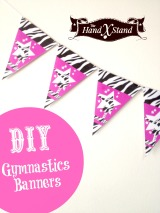DIY Gymnastics Banner