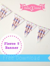 Free Fierce Five Banner Download